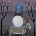 Full Moon Heading South : 12x12 : Oil