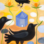 Spring Morning, Raven Trio : 12x12 : Oil - sold